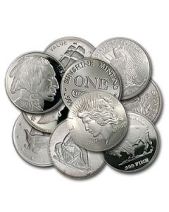 1 oz Generic Silver Rounds