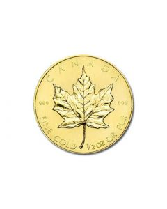 1/2 oz Canadian Gold Maple Leafs