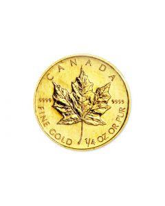 1/4 oz Canadian Gold Maple Leafs