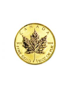 1/10 oz Canadian Gold Maple Leafs