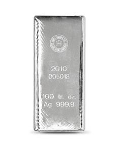 Royal Canadian Mint 100 oz Silver Bars