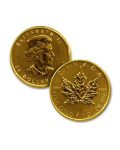 1 oz Canadian Gold Maple Leafs
